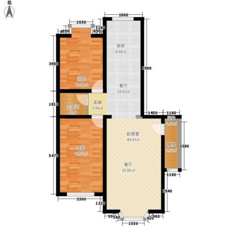 西河花苑2室0厅1卫0厨78.74㎡户型图