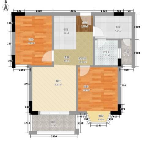 康文苑2室0厅1卫1厨72.00㎡户型图