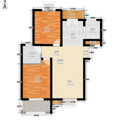 中登・悦园2室0厅1卫1厨95.00㎡户型图