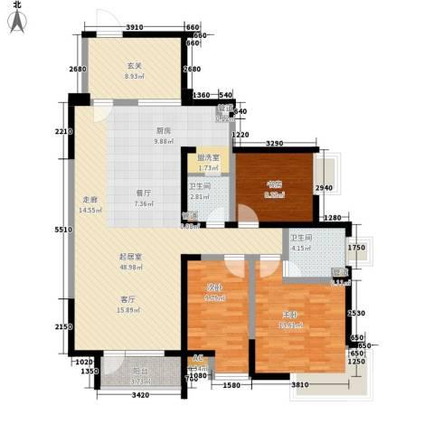 格林生活坊3室0厅2卫0厨117.00㎡户型图