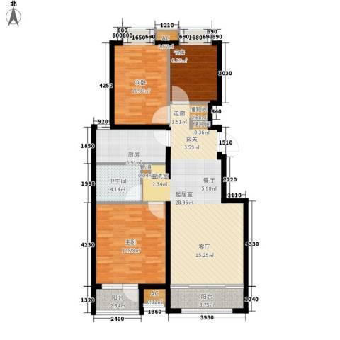 永兴大厦3室0厅1卫1厨113.00㎡户型图