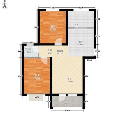 康桥郡2室0厅1卫1厨93.00㎡户型图