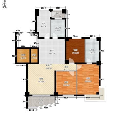 国际风情3室1厅2卫1厨130.00㎡户型图
