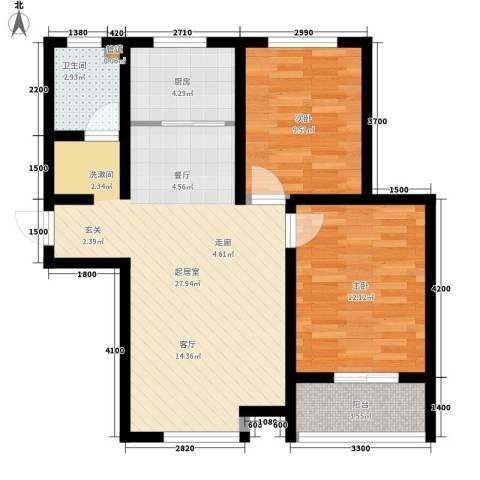 康桥郡2室0厅1卫1厨92.00㎡户型图