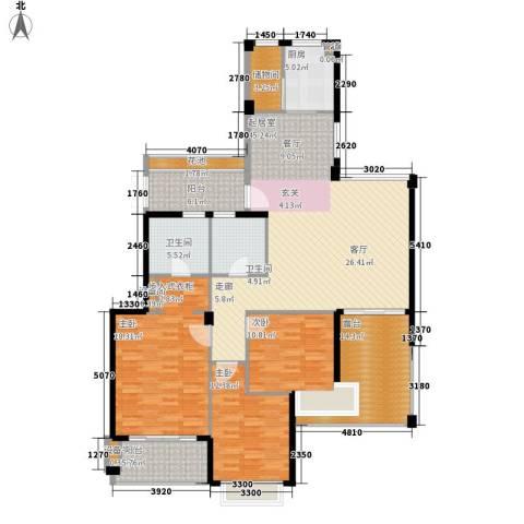 通和都市枫林3室0厅2卫1厨191.00㎡户型图