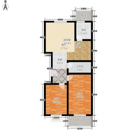 安驰国际2室0厅1卫1厨121.00㎡户型图