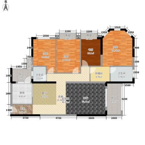 中粮海景壹号4室0厅2卫1厨211.00㎡户型图