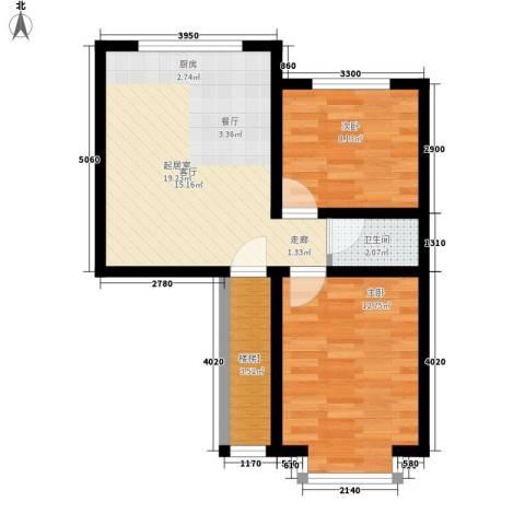 西河花苑2室0厅1卫0厨75.00㎡户型图