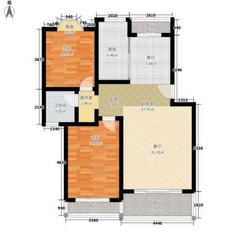 阳光苑三期2室0厅1卫1厨95.00㎡户型图