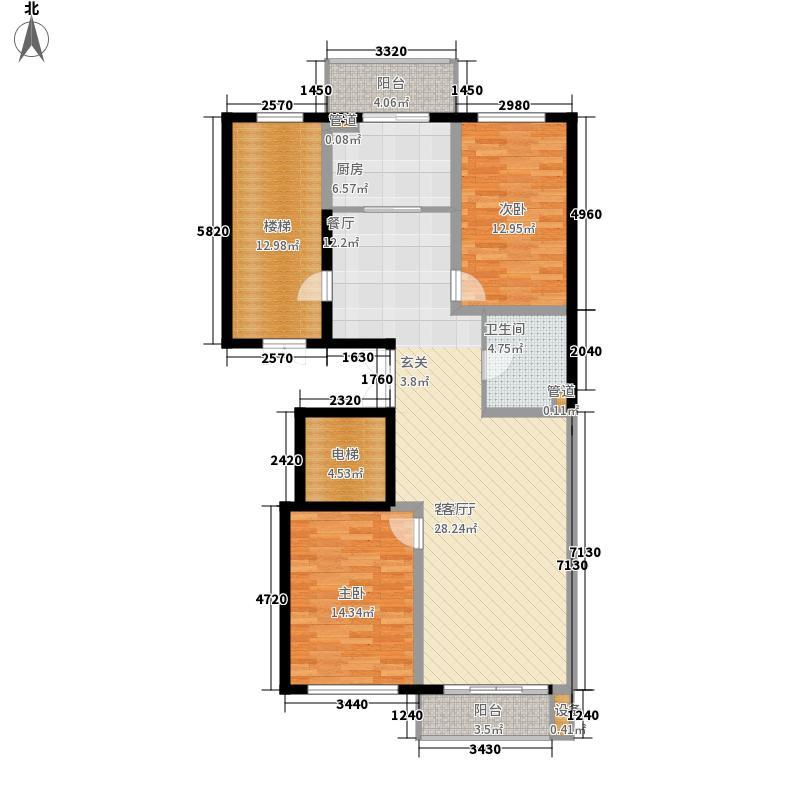 嘉业景园122.00㎡高层户型2室2厅1卫1厨