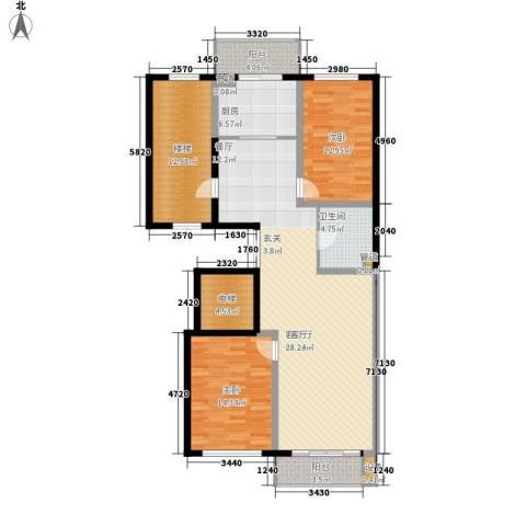 嘉业景园2室1厅1卫1厨122.00㎡户型图
