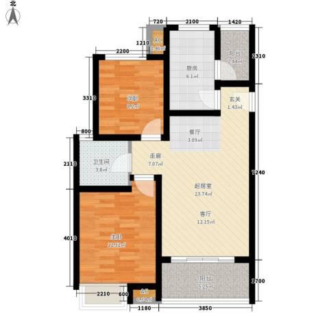 优活城2室0厅1卫1厨92.00㎡户型图