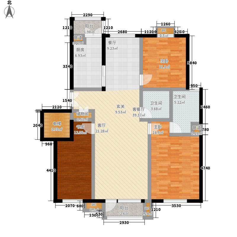 安居苑西村142.00㎡安居苑西村3室户型3室