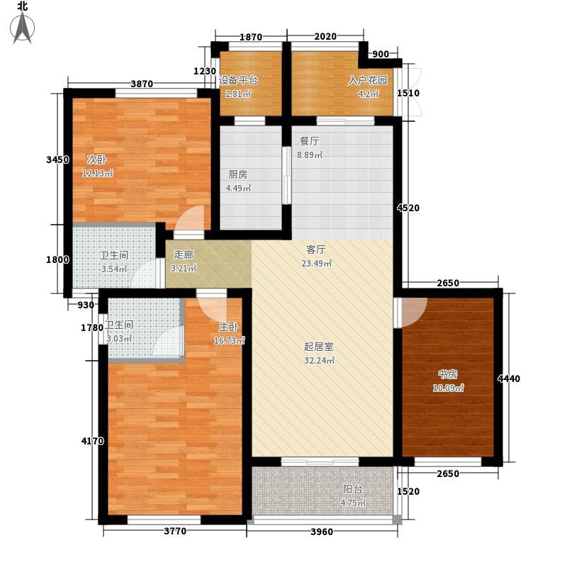 联诚蓝山郡117.77㎡D户型3室2厅1卫1厨