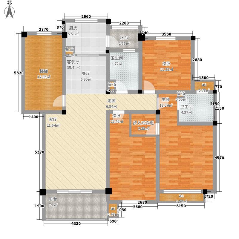 安居苑西村168.00㎡安居苑西村3室户型3室