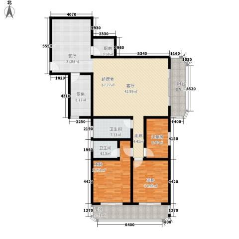 一品名人居3室0厅2卫2厨214.00㎡户型图