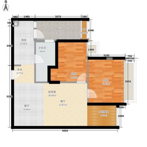 中信德方斯2室0厅1卫0厨78.00㎡户型图