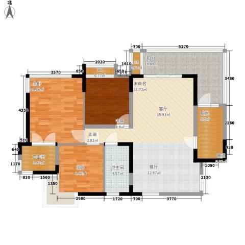 怡丰苑3室0厅2卫1厨100.00㎡户型图