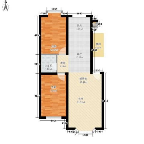 西河花苑2室0厅1卫0厨85.00㎡户型图