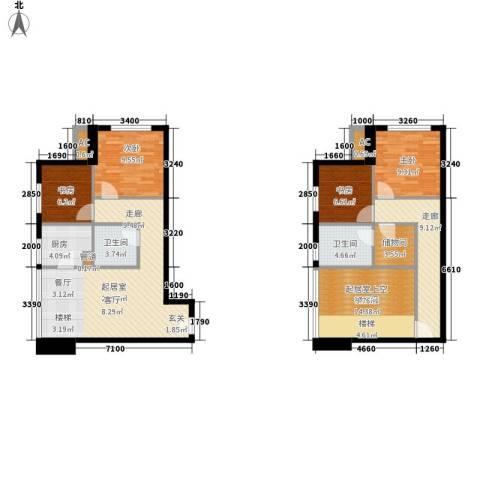 优活城4室0厅2卫1厨141.00㎡户型图