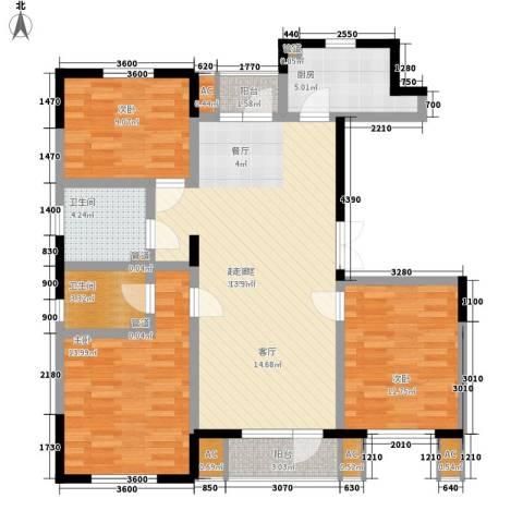 上榀坐3室0厅2卫1厨121.00㎡户型图