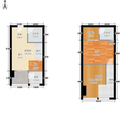 优活城1室0厅2卫1厨89.00㎡户型图