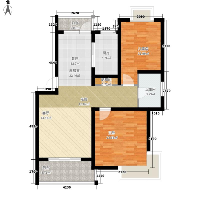 学林雅苑87.10㎡学林雅苑户型图学林A-92室2厅1卫1厨户型2室2厅1卫1厨