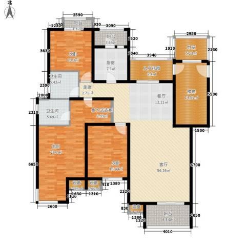 鑫苑都市家园3室1厅2卫1厨198.00㎡户型图