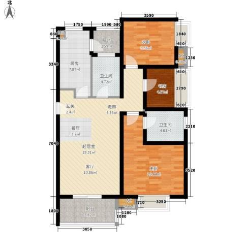 优活城3室0厅2卫1厨125.00㎡户型图