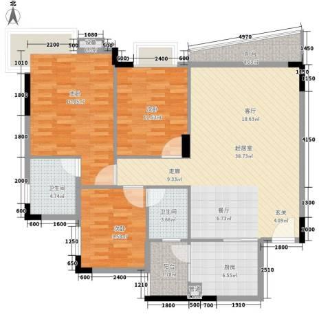 望谷・温泉小镇3室0厅2卫1厨119.00㎡户型图