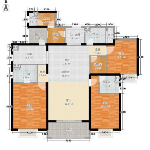 楚天逸品3室0厅4卫1厨189.00㎡户型图