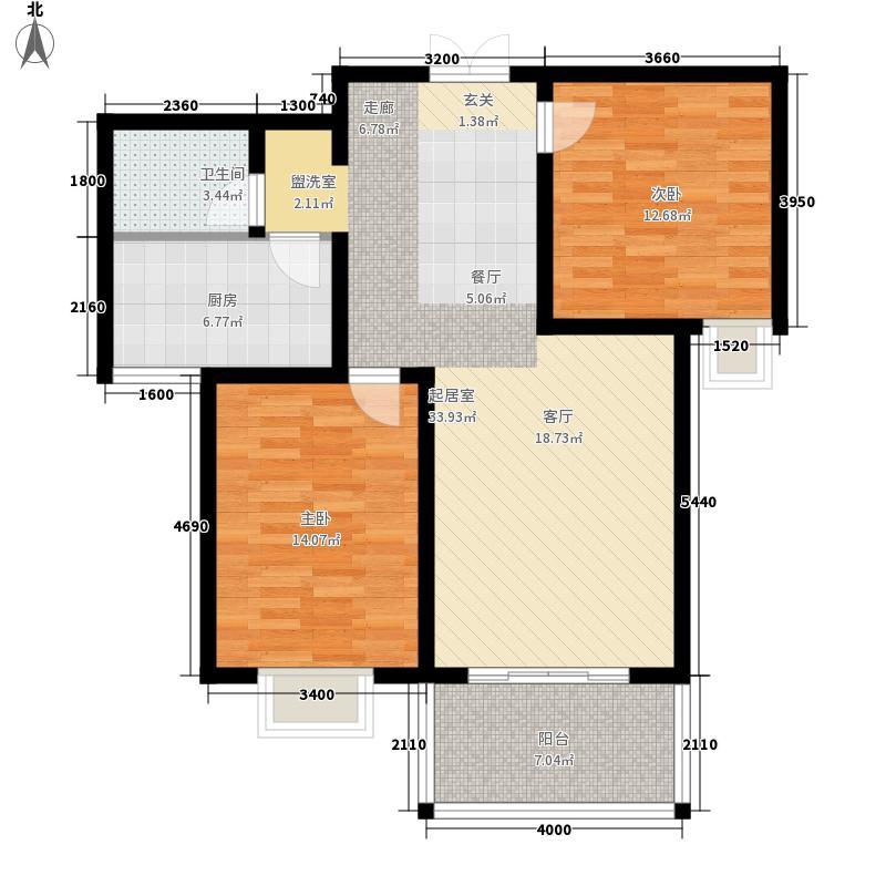 中晟・华悦3、4、5号楼D3户型