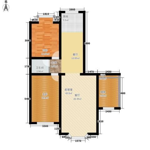 西河花苑2室0厅1卫0厨117.00㎡户型图