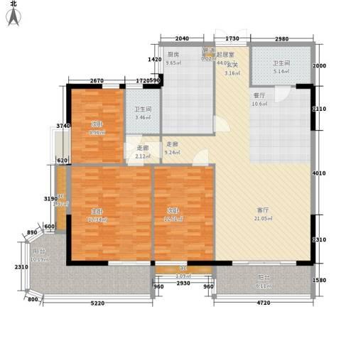 雄距都市东家3室0厅2卫1厨138.00㎡户型图
