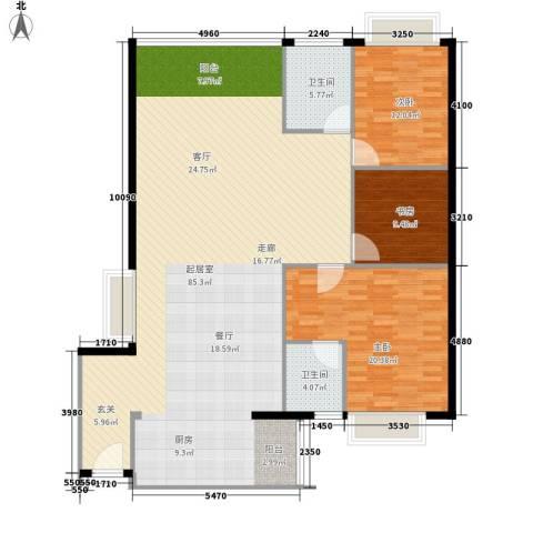 金成翠榕苑3室0厅2卫0厨147.00㎡户型图