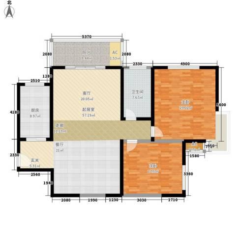 金成翠榕苑2室0厅1卫1厨141.00㎡户型图
