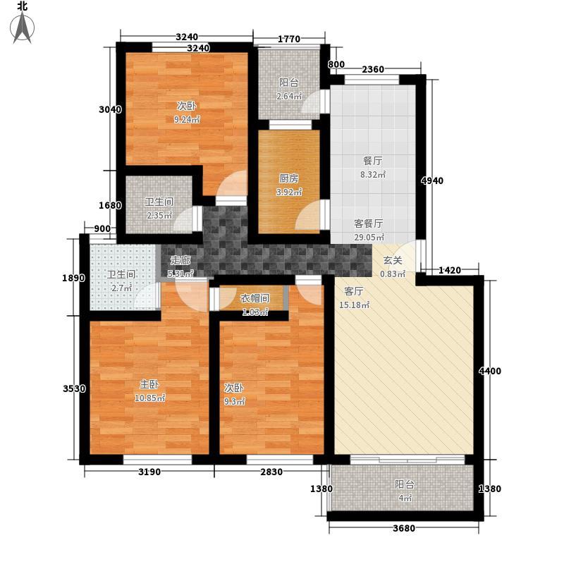 碧海红湖122.00㎡碧海红湖户型图3室2厅3卫1厨户型10室