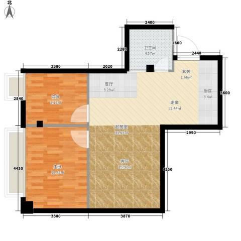 明珠汇2室0厅1卫0厨67.00㎡户型图