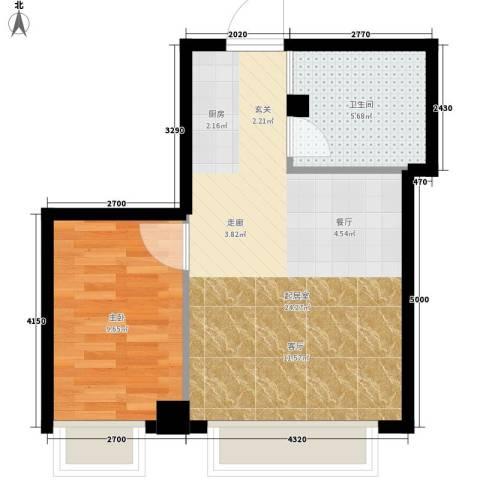 明珠汇1室0厅1卫0厨48.00㎡户型图