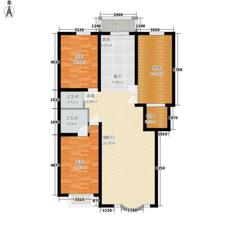 皇城东苑二期2室1厅2卫0厨122.00㎡户型图