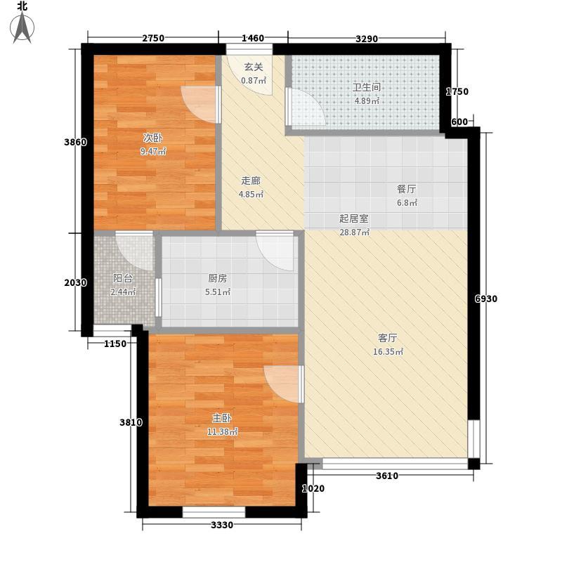 安宁西里户型2室2厅1卫1厨