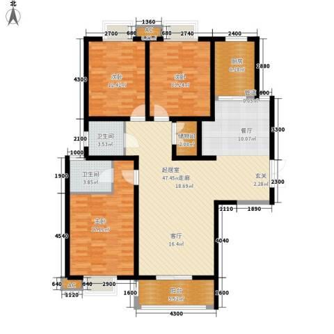 中登・悦园3室0厅2卫1厨142.00㎡户型图