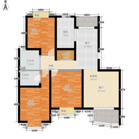 枫桥紫郡二期3室0厅2卫1厨128.00㎡户型图