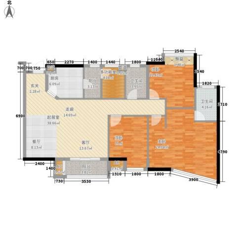 新天地华庭三期3室0厅2卫1厨132.00㎡户型图