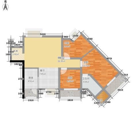 嘎纳印象3室1厅1卫1厨108.00㎡户型图