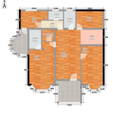 新天地华庭三期4室0厅3卫0厨131.00㎡户型图