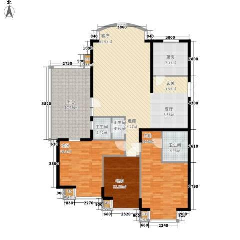 向阳门第3室0厅2卫1厨154.00㎡户型图