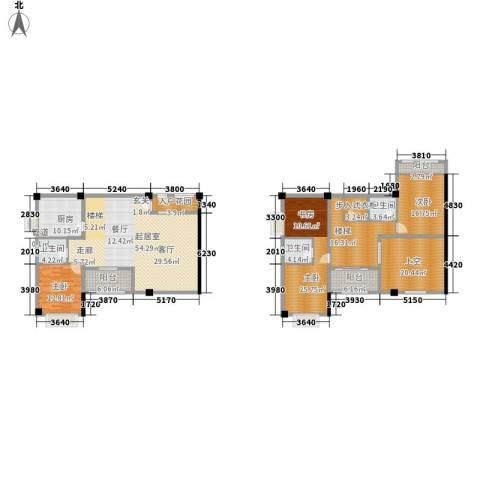 长安未来国际3室0厅3卫1厨218.00㎡户型图