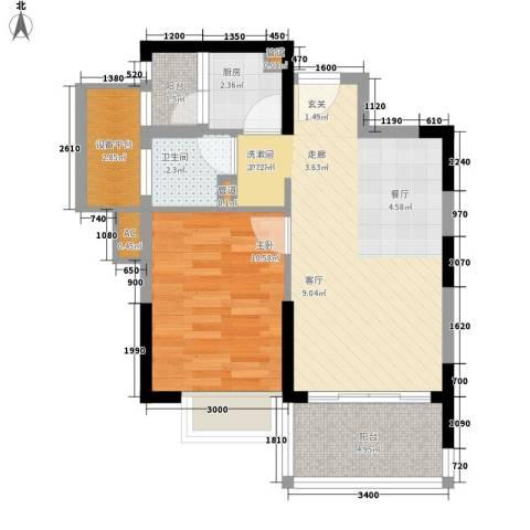 新世界花园灏景台1室0厅1卫1厨206.00㎡户型图