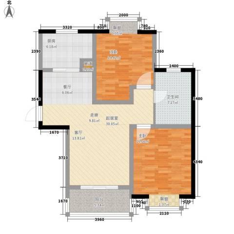 汉城国际2室0厅1卫1厨91.00㎡户型图